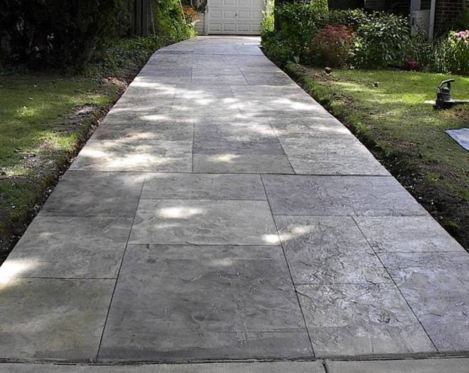 Decorative stamped concrete driveways in maryland for Cement driveway ideas
