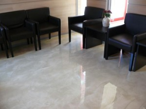 Metallic Epoxy Flor Office Space Fairfax County Virginia