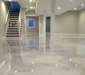 Pearl White Epoxy Fairfax County Virginia