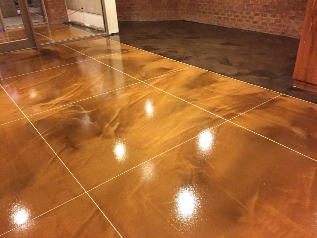 Polished concrete floors ellicott city md for Stained polished concrete floor